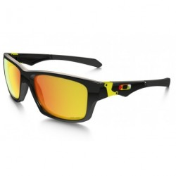 OKULARY OAKLEY® OO9135-11 JUPITER SQUARED POLISHED BLACK/FIRE IRIDIUM VALENTINO ROSSI VR46