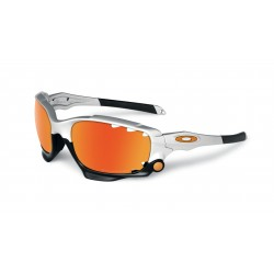 OKULARY OAKLEY® OO9171-21 RACING JACKET SILVER/FIRE IRIDIUM POLARIZED VENTED&BLACK IRIDIUM VENTED