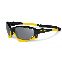 OKULARY OAKLEY® OO9171-12 RACING JACKET POLISHED BLACK BLACK IRIDIUM POLARIZED VENTED&YELLOW VENTED LIVESTRONG