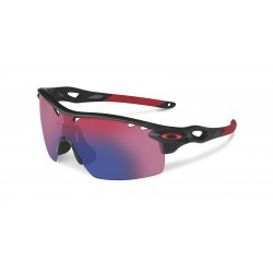 OKULARY OAKLEY® OO9196-06 RADARLOCK XL STRAIGHT MATTE BLACK INK/OO RED IRIDIUM POLARIZED VENTED & BLACK IRIDIUM VENTED