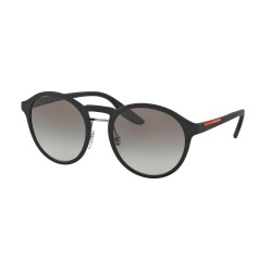 OKULARY PRADA EYEWEAR SPORT 01SS DG0-0A7 BLACK RUBBER/GREY GRADIENT