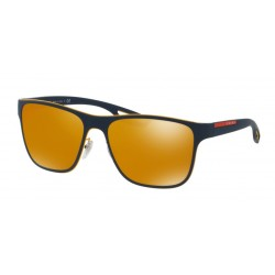OKULARY PRADA EYEWEAR SPORT 56Q VHM-5N0 YELLOW BLUE RUBBER/BROWN (ORANGE) 24 K IRIDIUM