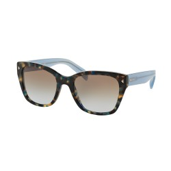 OKULARY PRADA EYEWEAR 09S UE1-4S2 SPOTTED BROWN BLUE/LIGHT BLUE GRADIENT LIGHT BROWN