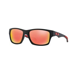OKULARY OAKLEY OO9220-06 MATTE BLACK/RUBY IRIDIUM POLARIZED FERRARI