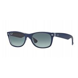 OKULARY PRZECIWSŁONECZNE RAY-BAN® RB2132 6053/71 MATTE BLUE ON TRASPARENT/GREY GRADIENT NEW WAYFARER r.52