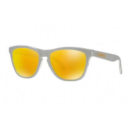 OKULARY OAKLEY® OO9013-C0 FROGSKINS SILVER/FIRE IRIDIUM CHECKBOX COLLECTION