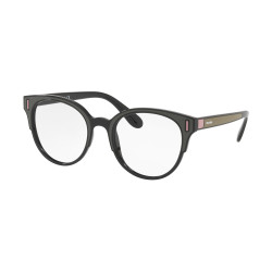 OKULARY PRADA EYEWEAR 08U SVK-1O1 BLACK/BROWN/PINK r.50