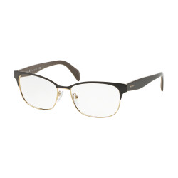 OKULARY KOREKCYJNE PRADA EYEWEAR 65R DHO-1O1 BROWN ON PALE GOLD r.55
