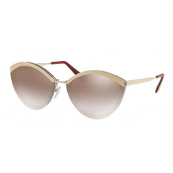 OKULARY PRADA EYEWEAR 07U KNG-4O0 SAND PALE GOLD/LIGHT BROWN/ GRADIENT BROWN SILVER MIRROR