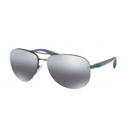 OKULARY PRADA SPORT 56M DG1-2F2 GUNMETAL RUBBER/GREY MIRROR GRADIENT SILVER POLARIZED