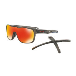 OKULARY OAKLEY® OO9387-04 CROSSRANGE SHIELD MATTE GREY SMOKE/PRIZM RUBY