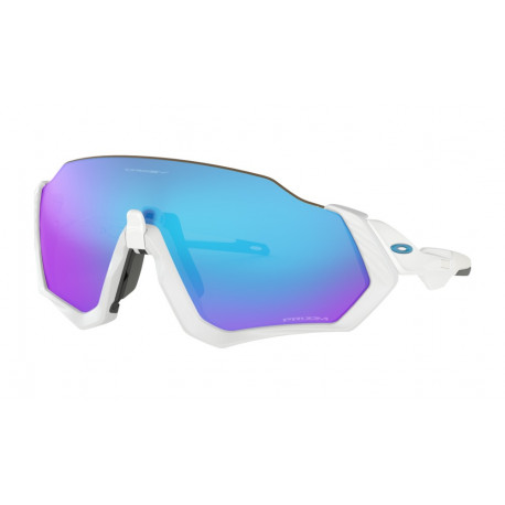 OKULARY OAKLEY® OO9401-02 FLIGHT JACKET MATTE WHITE POLISHED WHITE/PRIZM SAPPHIRE IRIDIUM
