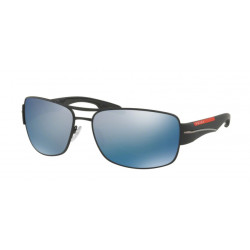 OKULARY PRADA SPORT 53N DG0-2E0 BLACK RUBBER/ DARK GREY MIRROR WATER POLARIZED