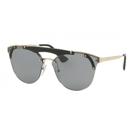 OKULARY PRADA EYEWEAR 53US 1AB-3C2 BLACK PALE GOLD/GREY ULTRAVOX SPECIAL COLLECTION
