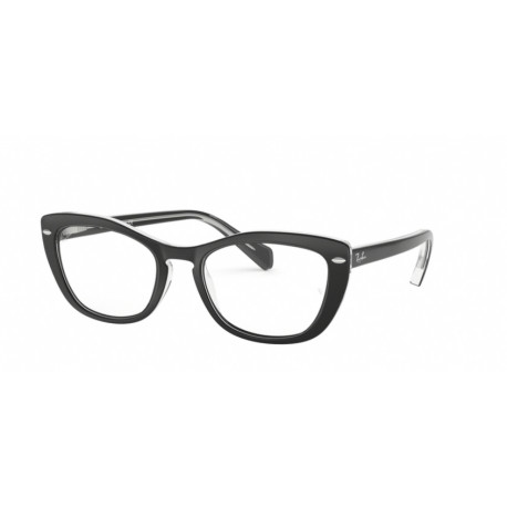 OKULARY RAY-BAN® RB5366 2034 BLACK ON TRANSPARENT r. 52