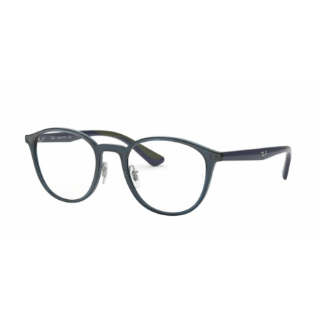 OKULARY RAY-BAN® RB7156 5796 TRANSPARENT DARK BLUE r.51