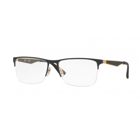 OKULARY KOREKCYJNE RAY-BAN® RB6335 2503 GOLD TOP ON BLACK r.54