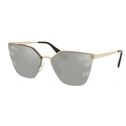 OKULARY PRADA EYEWEAR 68T ZVN-435 PALE GOLD/LIGHT GREY MIRROR SILVER CATWALK