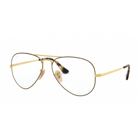 5a14081a51ee9e Okulary Korekcyjne Ray Ban Rb6489 2945 Gold On Top Havana Aviator R