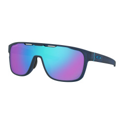 OKULARY OAKLEY® OO9387-14 CROSSRANGE SHIELD MATTE TRANSLUCENT BLUE/PRIZM SAPPHIRE IRIDIUM