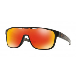 OKULARY OAKLEY® OO9387-09 CROSSRANGE SHIELD MATTE BLACK PRIZMATIC/PRIZM RUBY