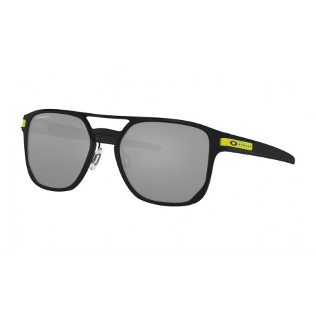 OKULARY OAKLEY® OO4128-08 LATCH ALPHA MATTE BLACK/PRIZM BLACK IRIDIUM VALENTINO ROSSI COLLECTION (VR46)