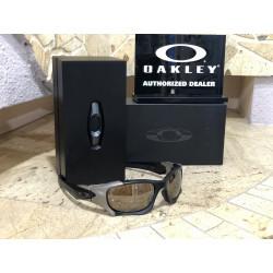 OKULARY OAKLEY® OO9137 PIT BOSS MATTE BLACK/TUNGSTEN POLARIZED CUSTOM