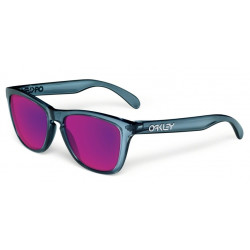 OKULARY OAKLEY® OO9013 24-304 FROGSKINS CRYSTAL BLACK/+RED IRIDIUM