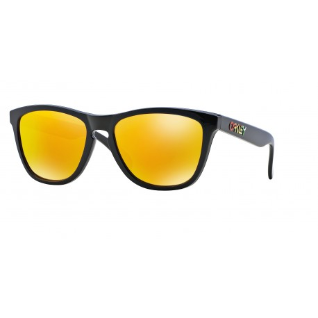 OKULARY OAKLEY® OO9013 24-325 FROGSKINS POLISHED BLACK/FIRE IRIDIUM VALENTINO ROSSI VR46