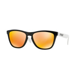 OKULARY OAKLEY® OO9013 24-418 FROGSKINS POLISHED BLACK/FIRE IRIDIUM 30 LAT OAKLEY® SPORT