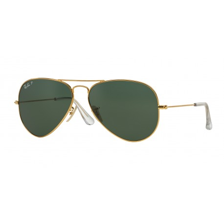 OKULARY RAY-BAN RB3025K 160/N5 GOLD/GREEN POLARIZED AVIATOR 18KARAT
