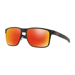 OKULARY OAKLEY® OO4123-12 HOLBROOK METAL MATTE BLACK/PRIZM RUBY