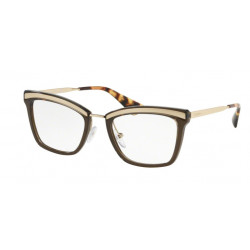 OKULARY PRADA EYEWEAR 15U KJM-1O1 SAND PALE GOLD/DARK BROWN r.52
