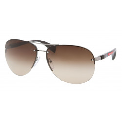 OKULARY PRADA SPORT 56M 5AV-6S1 GUNMETAL/BROWN GRADIENT r.65