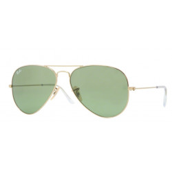SZKŁA DO OKULARÓW RAY-BAN® RB3025 LIGHT GREEN AVIATOR r.58