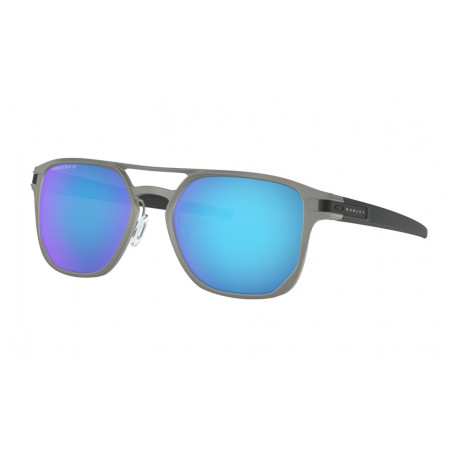 OKULARY OAKLEY® OO4128-04 LATCH ALPHA MATTE LIGHT GUNMETAL/PRIZM SAPPHIRE POLARIZED