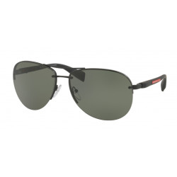 OKULARY PRADA SPORT 56M DG0-5X1 BLACK RUBBER/GREEN POLARIZED r.65