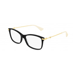 OKULARY KOREKCYJNE GUCCI GG0513 001 BLACK/GOLD/TRANSPARENT r.54
