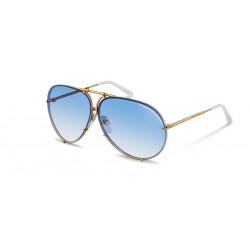 OKULARY PRZECIWSŁONECZNE PORSCHE DESIGN P8478 W 6610 135 YELLOW GOLD WHITE/BLUE GRADIENT&BROWN