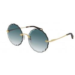 OKULARY PRZECIWSŁONECZNE CHLOE CH0047S 001 GOLD/BLUE GRADIENT r. 60